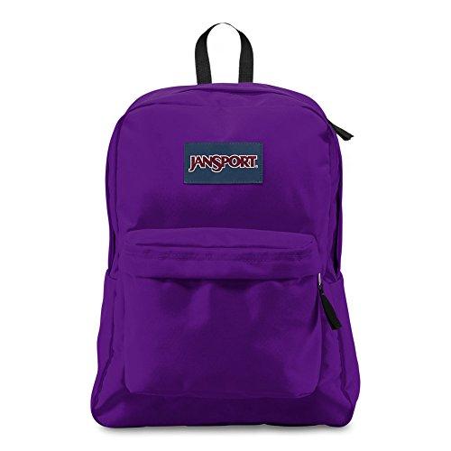 JanSport Superbreak Backpack - Signature Purple - Classic, Ultralight