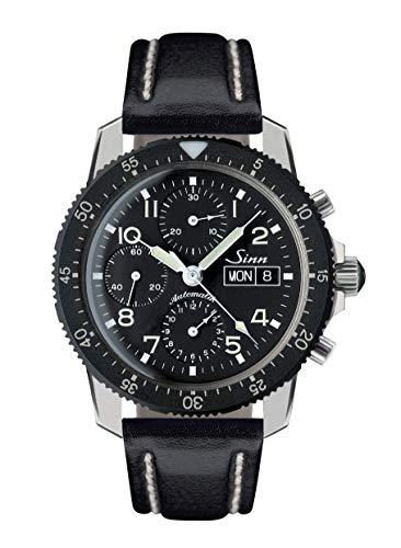 ジン メンズ 腕時計 クロノグラフ レザーストラップ オートマチック 103.B.AUTO