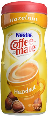 Coffee-Mate Hazelnut Creamer Powder, 15-oz Plastic Bottle