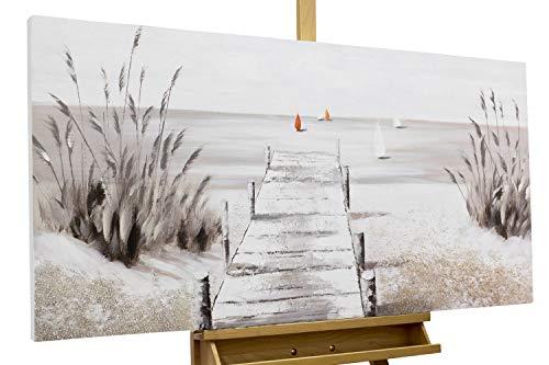 KunstLoft® Acryl Gemälde 'Careless Beach Day' 120x60cm handgemalt Leinwand Bild
