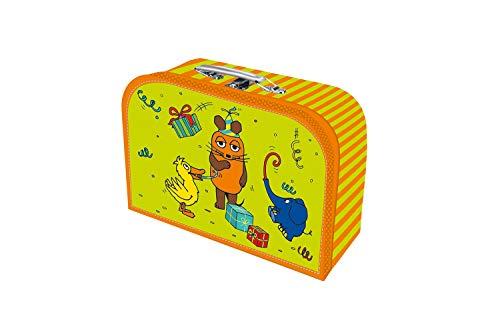 """Trötsch, Kinderkoffer \""""Die Maus\"""",Pappkoffer, Koffer aus Pappe, Geschenk Verpackung, Gutschein Verpackung,Spielkoffer, Metallgriff und Metallhenkel, Reisekoffer Kinder: 24 x 17 cm"""