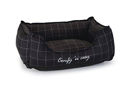 Beeztees Comfy Gato Resto Cama, 37 cm, Color Negro