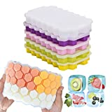 Loistu Ice Cube Trays, 5 Pack of Ice Trays with Lid, BPA Free, for Cocktail, Whiskey, Baby Food,...