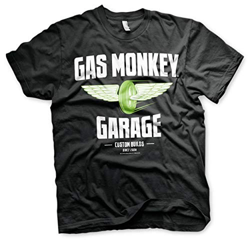 Officially Licensed Merchandise Gas Monkey Garage - Speed Wheels T-Shirt (Black), X-Large