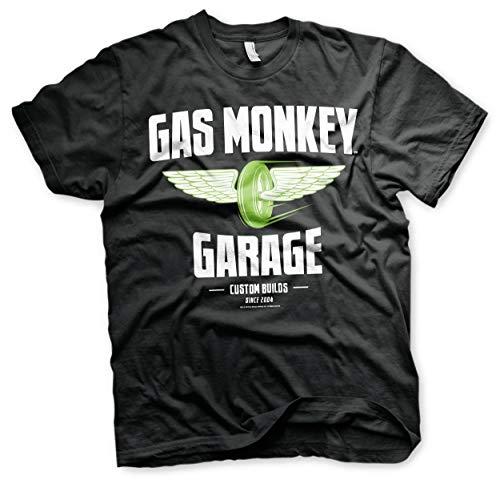 Officially Licensed Merchandise Gas Monkey Garage - Speed Wheels T-Shirt (Black), X-Large