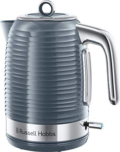 Russell Hobbs Bouilloire 1,7L, Ebullition Rapide, Niveau Eau Visible, Filtre Anti-Calcaire - Gris 24363-70 Inspire (Exclusivité Amazon)