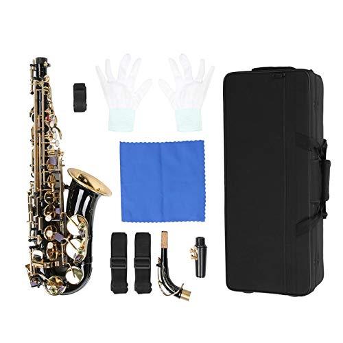 Set Sassofono Mi bemolle, Set Sassofono Contralto Mi bemolle, Musicista elettroforesi in Oro per Principianti(Black)