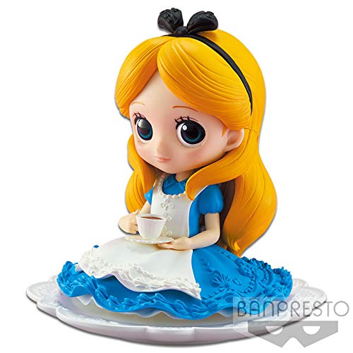 Figur Sammlung Alices Abenteuer im Wunderland 10cm - Normal Farbe Kleid - Alice in Wonderland - Serie QPOSKET Banpresto Disney Characters SUGIRLY - Version A