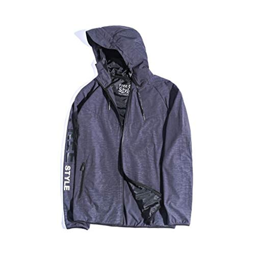 QJY Outdoor jas heren jas windbreaker voorzijde rits casual jas