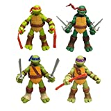 Yang baby Paquete De 4 Juguetes De Tortuga Ninja Mutante Adolescente - Figuras De Acción De Tortuga Ninja Mutante Adolescente - Modelo De Personaje De Acción - Set TMNT