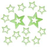 N-brand PULABO 14pcs Luminous Star Pegatinas de pared que brillan en la oscuridad, dormitorio infantil, decoración elegante y práctica