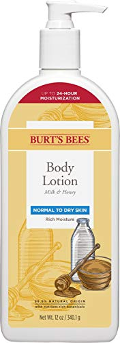 Burts Bees Body Lotion for Normal to Dry Skin with Milk & Honey, 12 Oz (Package May Vary)