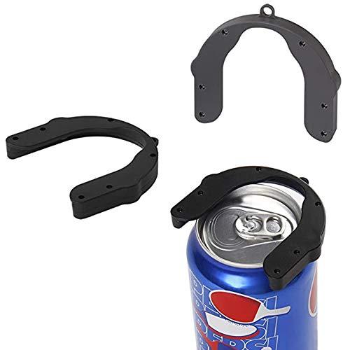 Abridor de latas manual de plástico en topless Edge-Safety Handheld Beer Can Abridores para cocina Bar Party