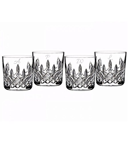 """Waterford""""Lismore"""" Set Of 4 9Oz Tumblers (Personalized Clear)"""