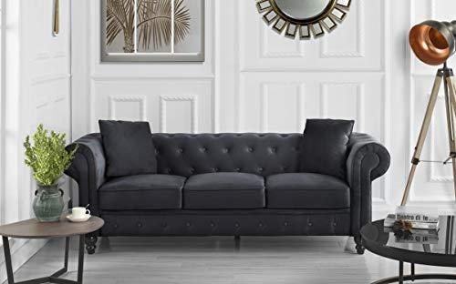 Divano Roma Classic Sofas, Large, Black