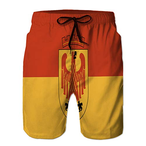 Yuerb Man's Summer Boardshorts Casual Shorts Flag of Potsdam in Brandenburg Germany