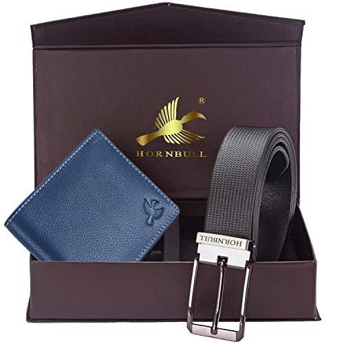 Hornbull Leather Wallet Combo | Leather Wallet for Men | Wallet for Men Leather Stylish | Wallet and Belt Combo for Men | Gift Set for Men 9355