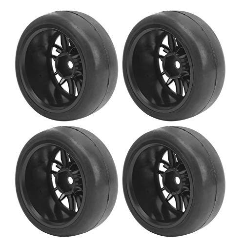 Rueda RC para WPLs Neumáticos de Goma Blanda Neumático Liso Modelo RC Neumáticos, Material Respetuoso con el Medio Ambiente Cubo de Revestimiento Taller de reparación de Ruedas para