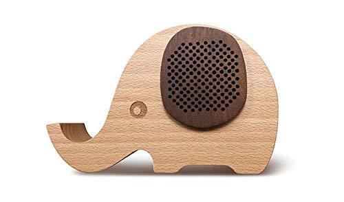 Olifant Bluetooth 4.0+EDR(!) LautsprecherBox von G-TELWARE®/ FSC® Zertifiziertes Buchenholz/ 3,5mm Klinke/Warmer sonorer Sound