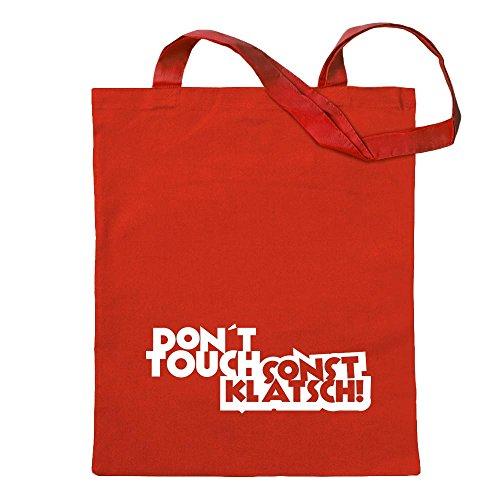 Kiwistar Dont Touch! Sonst klatsch! - Bolsa de algodón con asa larga
