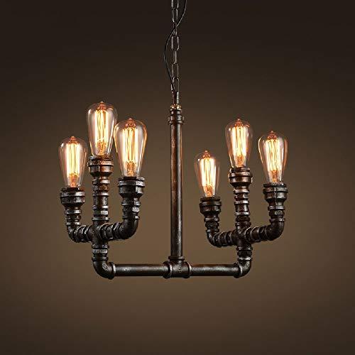 * Robuuste afwerking van ijzeren industriële plafondlamp van gesmeed ijzer van smeedijzer, slangen voor slaapkamer, woonkamer, slaapkamer, hanglamp.
