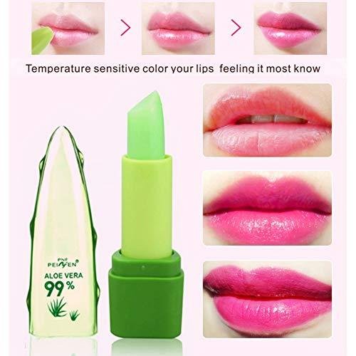 Cocohot Pure natürliche flüssige Aloe Farbwechsel Lippenstift Dauerhafter hydratisierender...