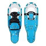 SOAR Raquetas Nieve Zapatos de nieve al aire libre, marco de aluminio, campo de nieve ligero y flexible, zapatos de nieve para caminar flexibles, equipo de esquí al aire libre Mini patines para esquís