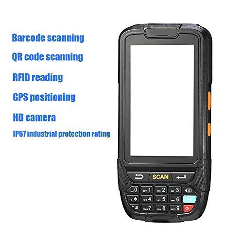 ZUKN LCD à écran Tactile Portable sans Fil de données PDA Collector 1D 2D QR Code à Barres Laser Rapide Lecteur Compatible Bluetooth GPS WiFi 4G et RFIDR Lecture + Scanner Caméra