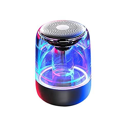 ワイヤレススピーカーサブウーファーポータブルワイヤレススピーカーカラフルな照明車クリスタルガラスワイヤレススピーカー