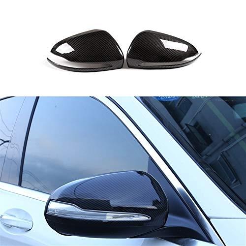 Adecuado Cubiertas de fibra de carbono volante a la derecha Espejo retrovisor con ajuste de la cubierta del ala del espejo for Mercedes Benz C E GLC Clase S W205 W213 (Color : Carbon Fiber)