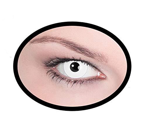 Maskworld SMI416136(2) Kontaktlinsen/Tageslinsen, Unisex– Erwachsene, weiß