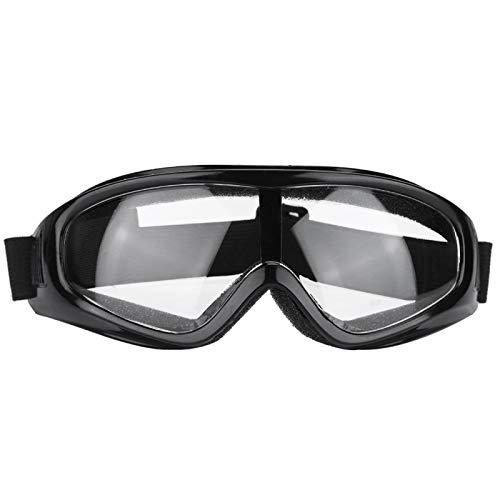 Gafas Protectoras de Trabajo, Lentes de Seguridad Protección para los Ojos, Gafas Protectoras Antideslizantes para el Ejercicio Diario, Golf, Motociclismo, Contra Salpicaduras(Lente transparente)