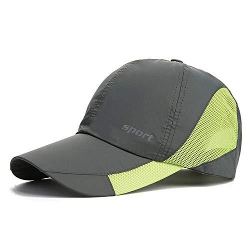 Gorra de béisbol de Moda, Gorras de Sol adorables, Sombrero de Pesca para Adolescentes Unisex, Gorras de Hip Hop Planas con Snapback-Q15131 Dark Grey-Adjustable