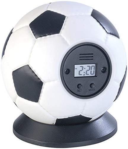 MonstruoManía Despertador con Forma de Pelota de Fútbol para Lanzar, Reloj Decorativo para el Hogar, Alarma para Lanzar sin Miedo