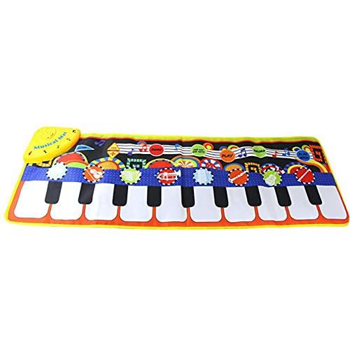 HHuin Alfombrilla musical para niños de 1 a 8 años de edad, con teclados, altavoz integrado y alfombrilla de baile divertida para niños pequeños.