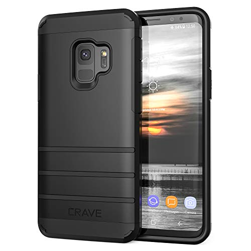 S9 Case Crave Strong Guard Protection Series Case for Samsung Galaxy S9  Black