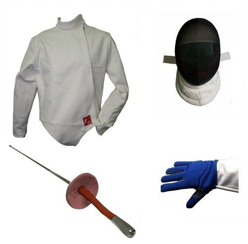 Blade Deluxe 4 Piece Foil Fencing Starter Set (Large, Right)