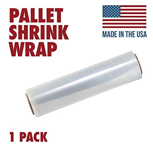 18 Inches X 1000 Feet Tough Pallet Shrink Wrap, 80 Gauge Industrial Strength Plastic Film, Commercial Grade Strength Film, Moving & Stretch Packing Wrap, for Furniture, Boxes, Pallets (1-Pack)