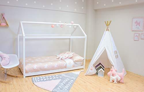 Cama Montessori, Blanco, 190X90 cm