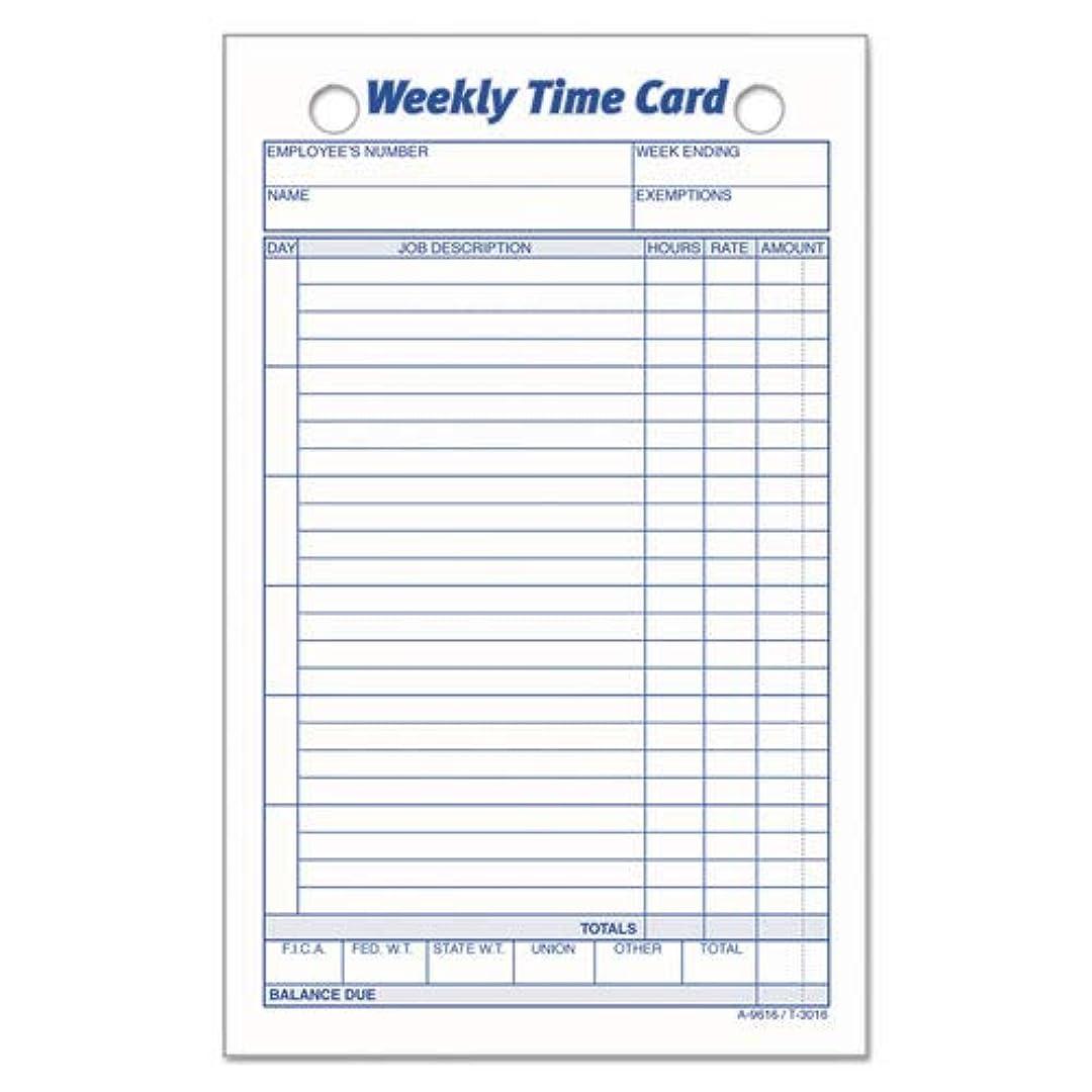 反響する狂った耐えられる- - - - - - -従業員時間カード、週単位、4?–?1?/ 4?x 6?–?3?/ 4、100?/パック