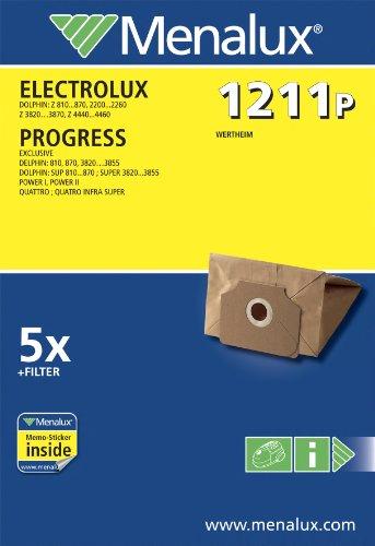 Menalux 1211 P, 5 Staubbeutel für Electrolux und Progress