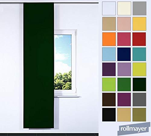 Rollmayer SCHIEBEVORHANG FLACHENVORHANG SCHIEBEPANEL SCHIEBEGARDINE Vorhang RAUMTEILER 60 x 245 cm Kollektion Vivid (Flaschengrün 26, IKEA System)