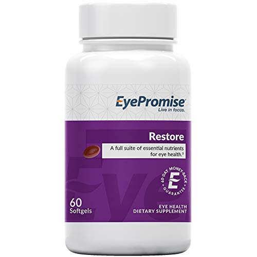 EyePromise Restore Supplement – Complete Macular Health Formula with Zeaxanthin & Lutein for Ocular Nutrition