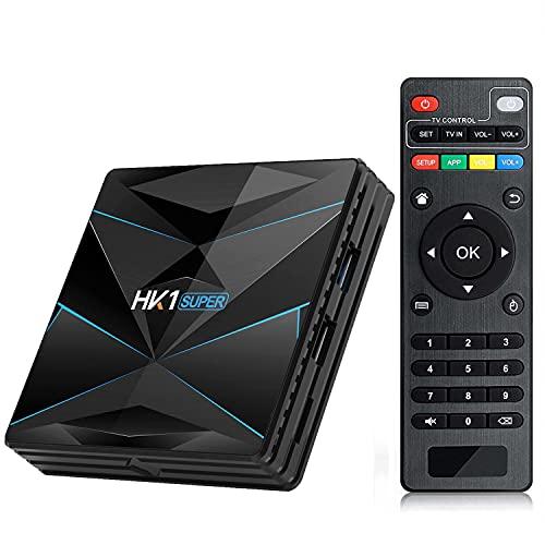 Android 11.0 TV Box - Leelbox Smart TV Box HK1 Super 4 GB RAM & 64 GB ROM, Quad Core 64 bit Android Box Wi-Fi integrato/BT 4.0, Box TV UHD 4K TV/USB 3.0 Media Player, Android Set-top-Box