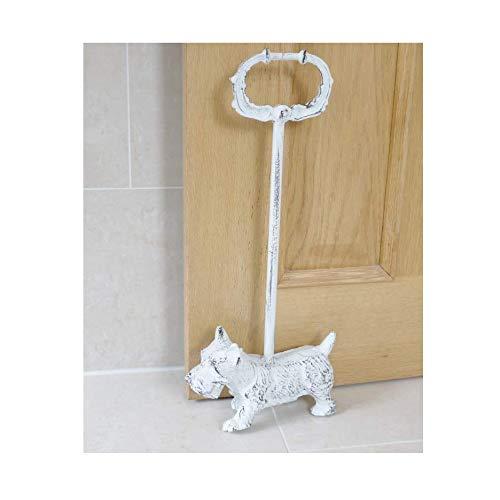 Brown & Ginger Go Westie. Antik Weiß Manschettenknöpfe Terrier Tür Porter