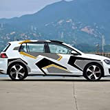 XINERJIA Decoración del Cuerpo del Coche calcomanías Pegatinas Accesorios para Hyundai Elantra Accent Tucson i40 i30 i10 Veloster IX35 IX20 Solaris Genesis GDINegro Gris Naranja