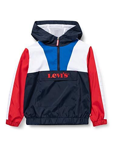 Levi's Kids LVB Colorblock Anorak Jacket C744, Dress Blues, 14 Ans Garçon