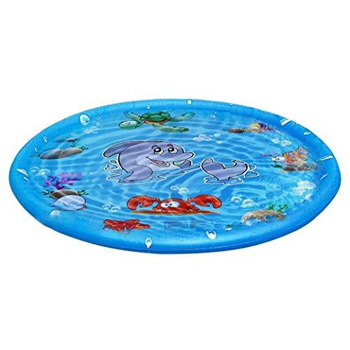 Homiki Mat Inflable de rociadores de pulverización de Agua para niños Mat 170cm Herramientas Redonda del Verano al Aire Libre Splash Game Pad Jardín