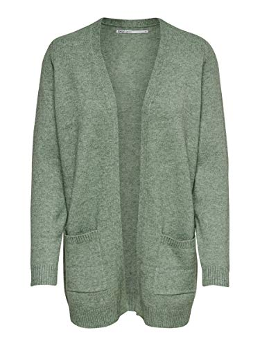 ONLY Damen Strickjacke Open SBasil