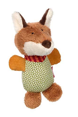 SIGIKID 39236 Greifling Forest Fox Mädchen und Jungen Babyspielzeug empfohlen ab 3 Monaten grün/braun